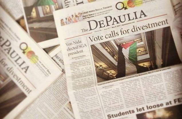 depaulia-university-newspaper-headline-divest