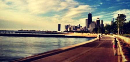 Chicago Lakeside Running Trail Skyline