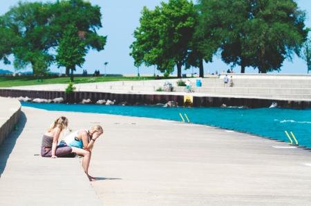 Lake Michigan Blue Upset Sad Consoling