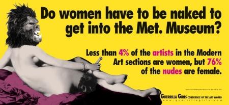 Guerrilla Girls Feminist Art Anniveresary Metropolitan Museum