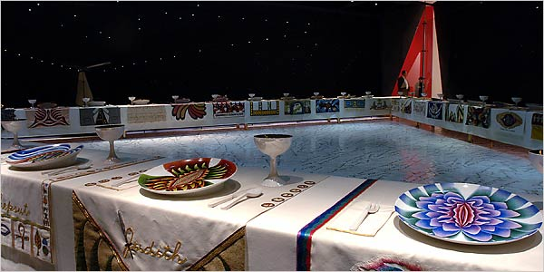 Judy Chicago- dinner-party- Feminist