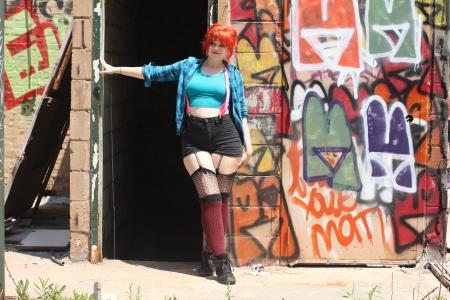 Door-graffiti-standing-smiling