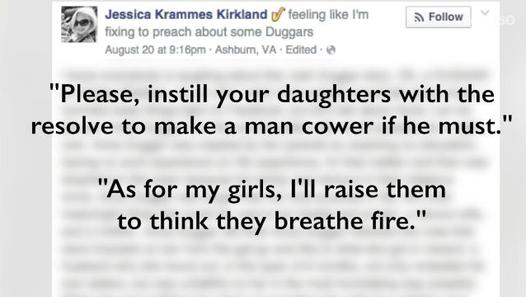 A Screencap of Kirkland's Facebook Post