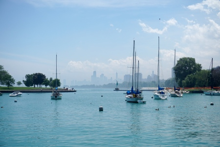 Belmont-Harbor-Boats-Skyline