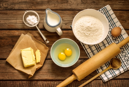 Cooking-supplies-eggs-butter-flour-milk