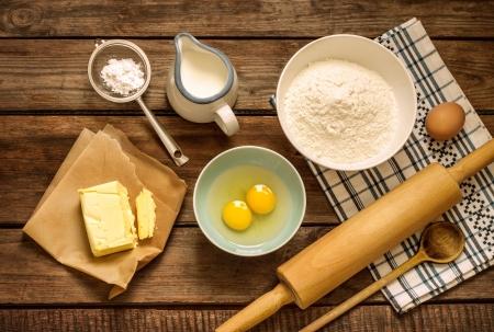 Cooking-supplies-eggs-butter-flour-milk