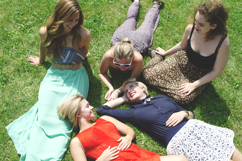 Girls-In-Park-Laughing-Scattered