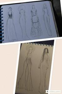 Brandy Mom Sketchbook Fashion Drawing